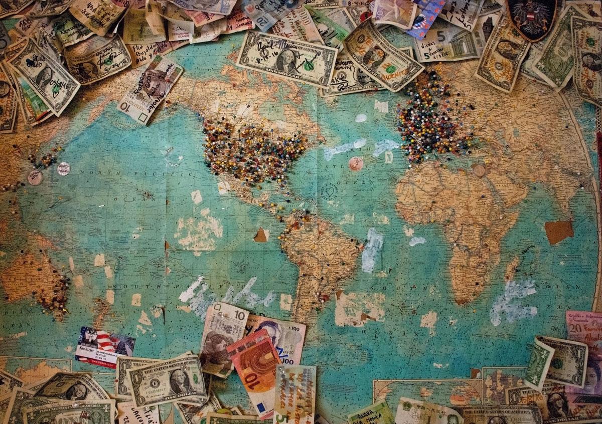 地図とお金
