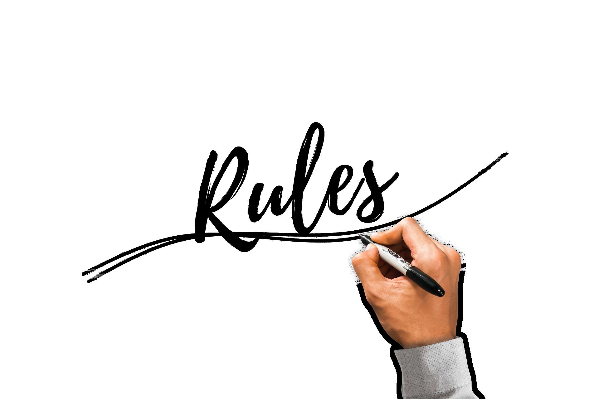 ルールの文字